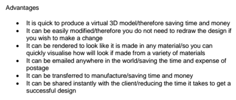 cad advantages Comments no comments have yet been made sign up to comment similar design & technology: textiles resources.