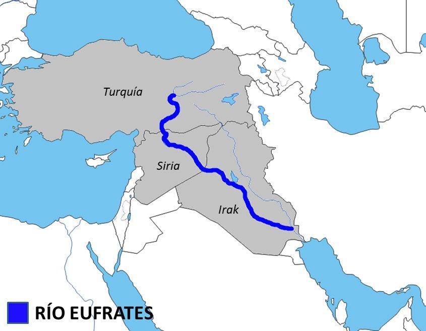 rio eufrates mapa Rius d'Àsia   Flashcards rio eufrates mapa