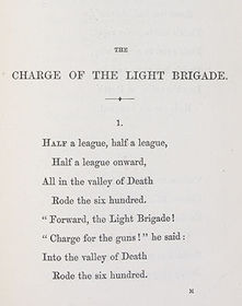 The Charge Of The Light Brigade Flashcards Flashcards