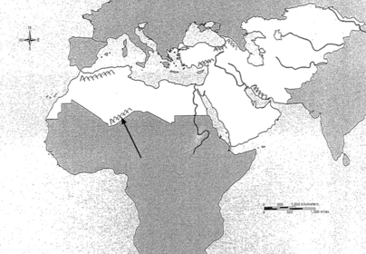 NORTH AFRICA, SOUTHWEST ASIA, AND CENTRAL ASIA MAP - PHYSICAL ...