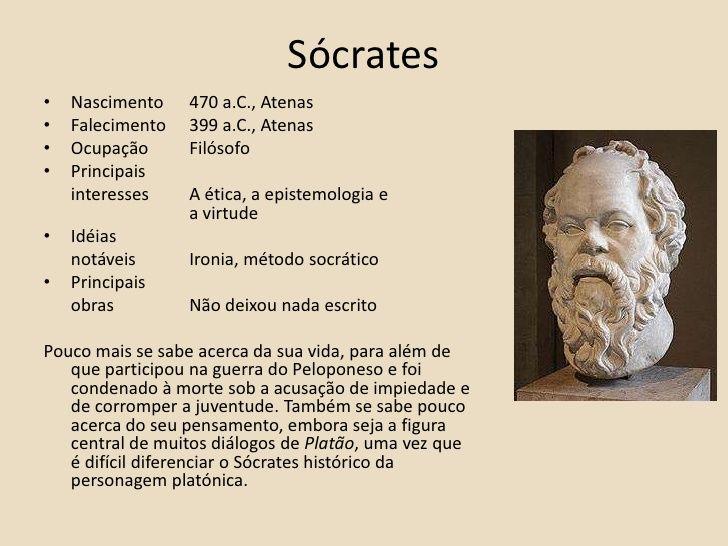 So Sei Que Nada Sei Frase De Socrates: Sócrates, Platão E Aristóteles