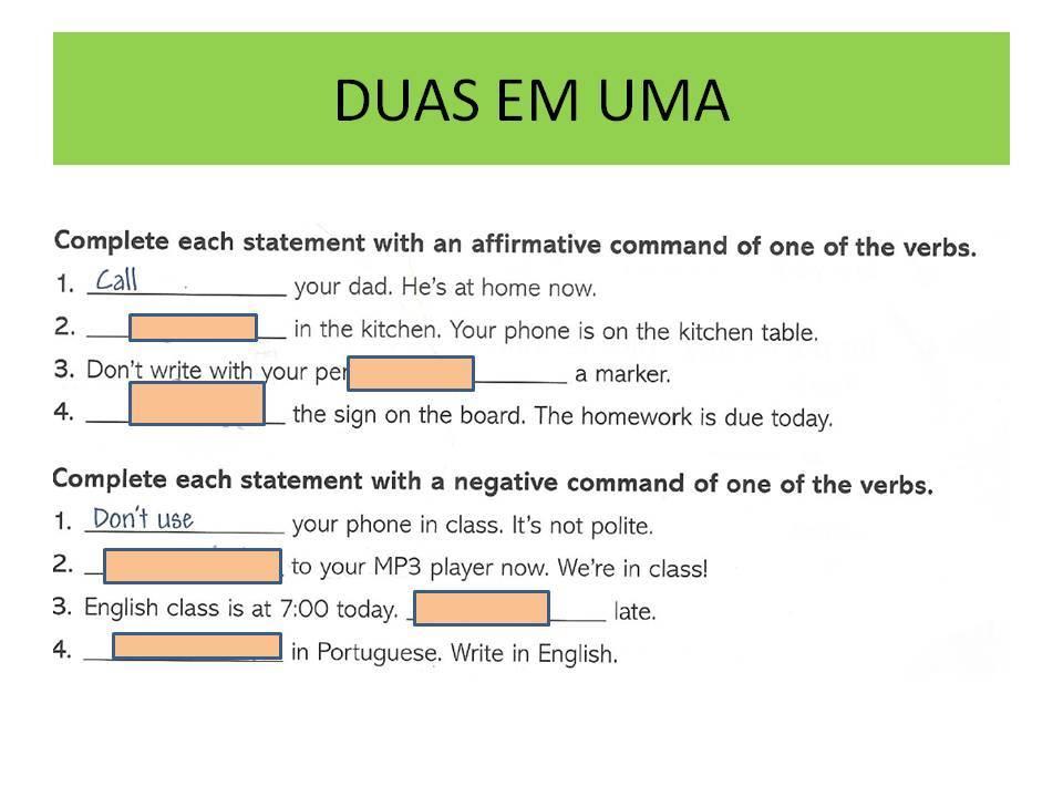 Inglês cap 5, 6 e 7 | Quiz