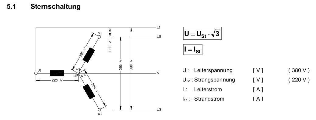 Formeln Elektrotechnik: Drehstrom | Flashcards