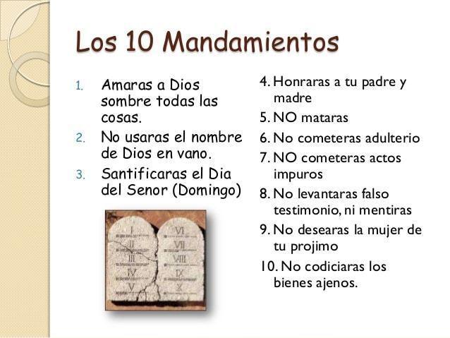 Los diez mandamientos de dios flashcards for Cuarto mandamiento