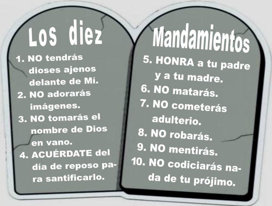 LOS DIEZ MANDAMIENTOS | Flashcards
