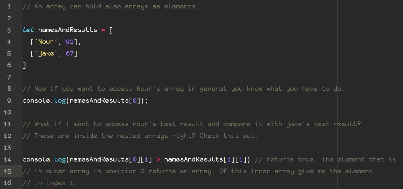 6  JS Arrays | Course