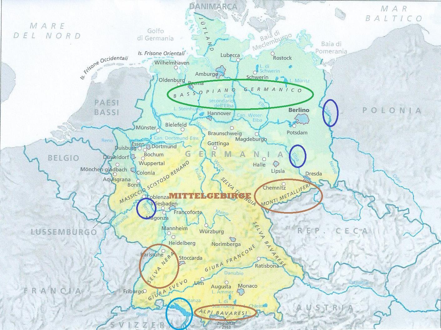 Cartina Fisica Belgio.Germania Mapa Mental